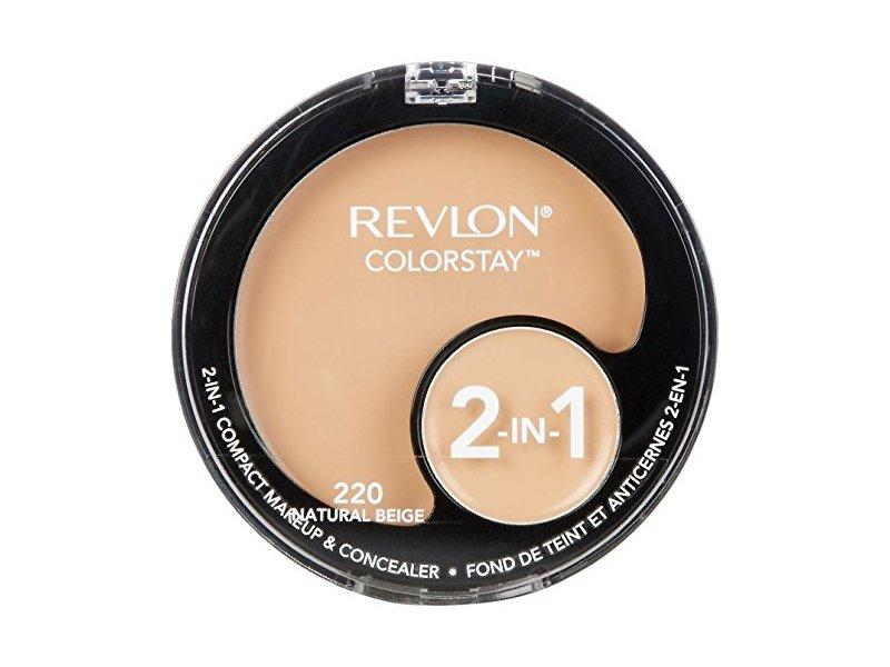 Revlon ColorStay 2-in-1 Compact Makeup & Concealer, Natural Beige