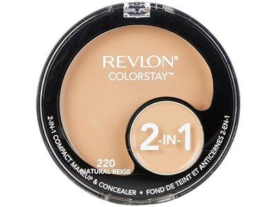 Revlon ColorStay 2-in-1 Compact Makeup & Concealer, Natural Beige - Image 1