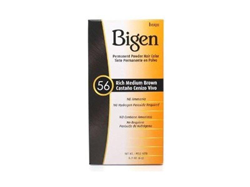 Bigen Permanent Powder Hair Color 56 Medium Brown 1 ea (Pack of 5)
