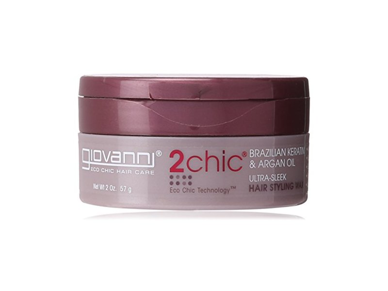 Giovanni 2chic Brazilian Keratin and Argan Oil UltraSleek Hair Styling Wax, 2 Ounce Ingredients