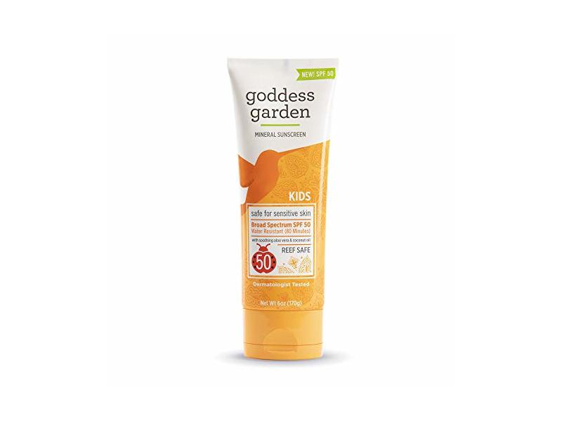 Goddess Garden Kids SPF 50 Mineral Sunscreen Lotion for Sensitive Skin 6oz.