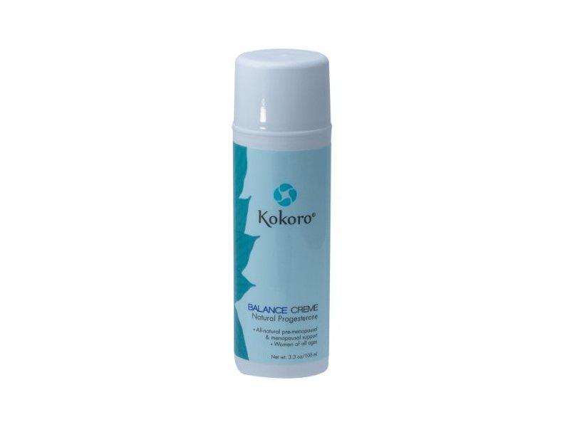 Kokoro Balance Creme for Women Natural Progesterone, 3.3 oz/100ml
