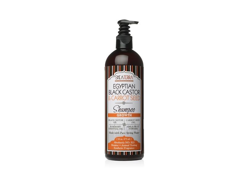 Shea Terra Egyptian Black Castor & Carrot Seed Shampoo, 16 fl oz