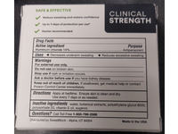 Sweatblock Antiperspirant Wipes, Clinical Strength, 10 Count - Image 4