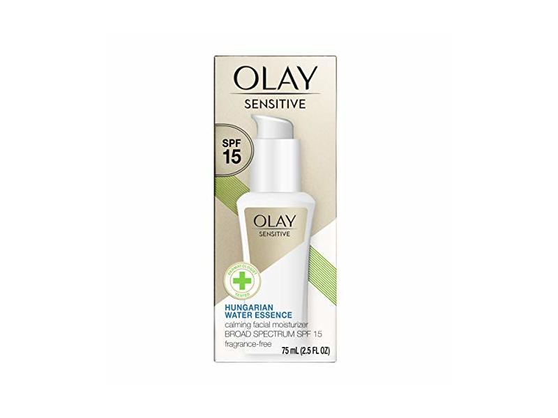 Olay Sensitive Calming Facial Moisturizer, SPF 15, 2.5 fl oz / 75 ml