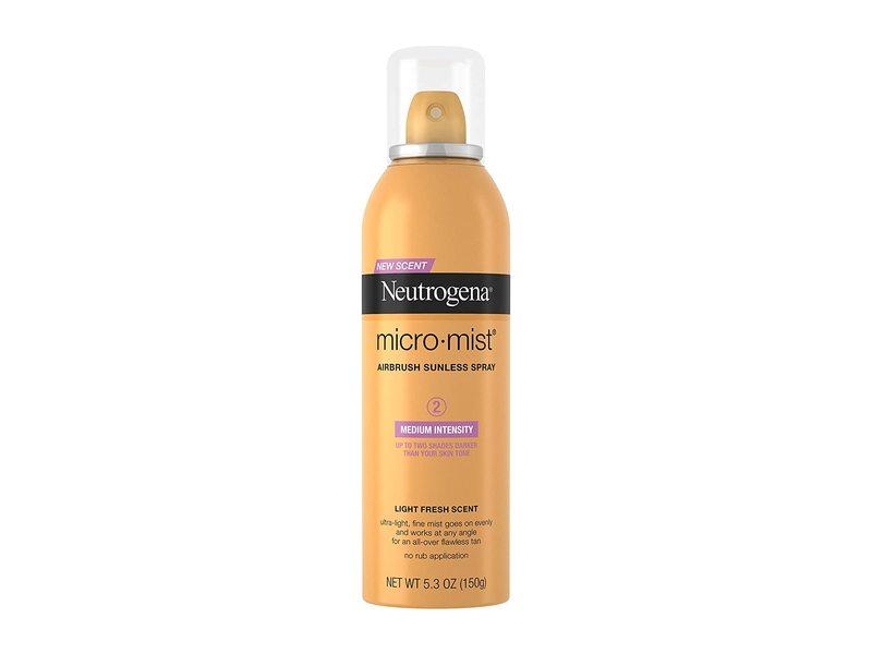 Neutrogena Micro Mist Airbrush Sunless Tan Spray, Medium, 5.3 oz/150 g