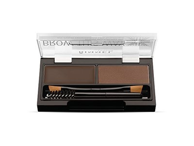 Rimmel Brow This Way Brow Sculpting Kit, Dark Brown, Powder 0.04 oz, Wax 0.03 oz - Image 3