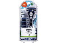 Schick Hydro 3 Razor Kit 1 Handle 3 Cartridge Value Pack, 1 Kit - Image 2