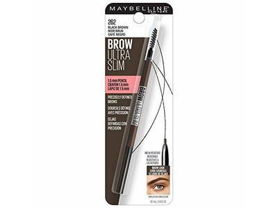 Maybelline New York Brow Ultra Slim Defining Eyebrow Pencil, 262 Black Brown, 0.003 oz