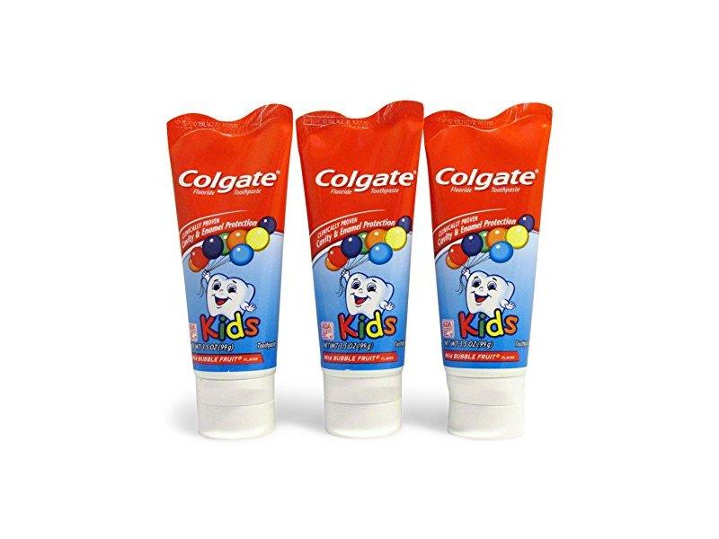 Colgate KIDS Mild Bubble Fruit Flavor Toothpaste Fluoride Cavity & Enamel Protection, 3.5 oz