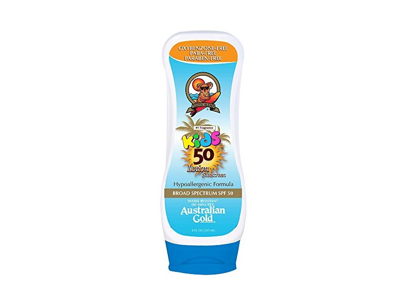Australian Gold Kids Lotion Sunscreen, Hypoallergenic, SPF 50, 8 Ounce