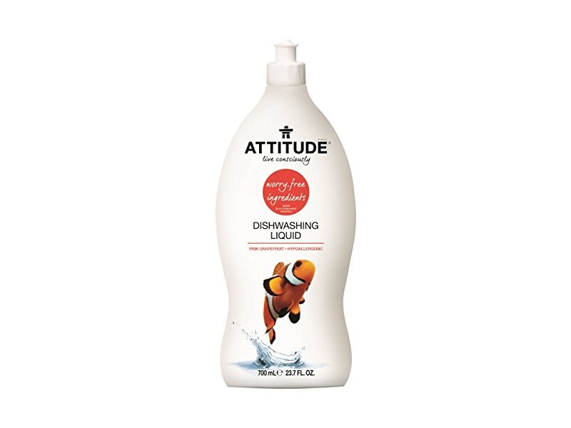 Attitude Natural Dishwashing Liquid, Pink Grapefruit, 23.7 fl oz