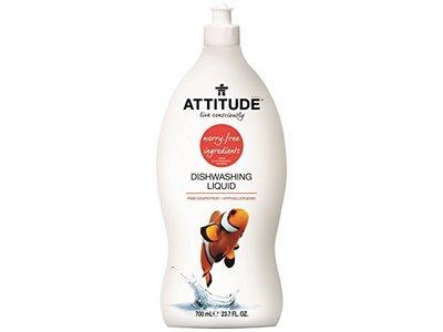 Attitude Natural Dishwashing Liquid, Pink Grapefruit, 23.7 fl oz