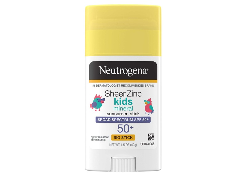 Neutrogena Sheer Zinc Kids Mineral Sunscreen Broad Spectrum Stick 50+