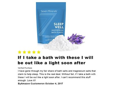 Seven Minerals Sleep Well Magnesium Chloride Flakes 3lb With Organic Cedarwood & Lavender - Image 7