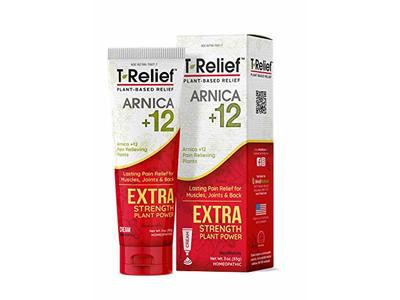 MediNatura T-Relief Extra Strength Pain Relief With Arnica + 12 Plant-Based Pain Relievers, 3 oz
