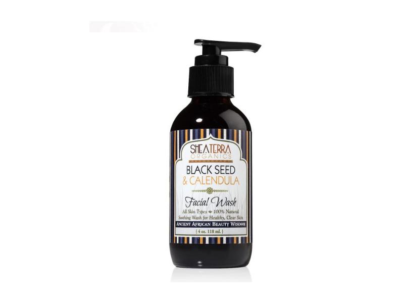 Shea Terra Organics Black Seed & Calendula Facial Wash, 4 oz