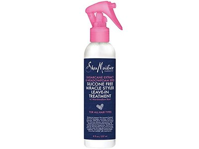 Sheamoisture Silicone Free Miracle Styler Leave-In Treatment, Sugarcane Extract & Meadowfoam Seed, 8 fl oz/237 mL