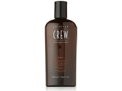 American Crew Classic Men's 3 in 1 Shampoo, Conditioner & Body Wash,8.4 Fl Oz