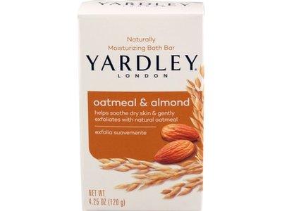 Yardley London Moisturizing Bath Bar, Oatmeal & Almond