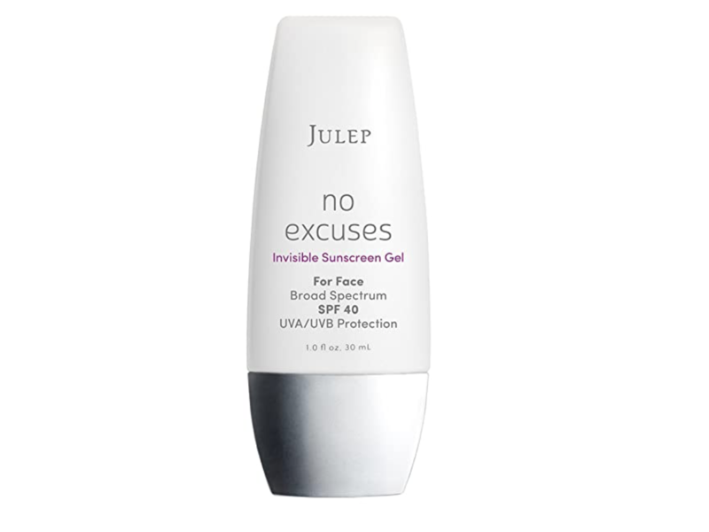 Julep No Excuses Invisible Facial Sunscreen Gel Broad Spectrum SPF 40, 1 fl oz