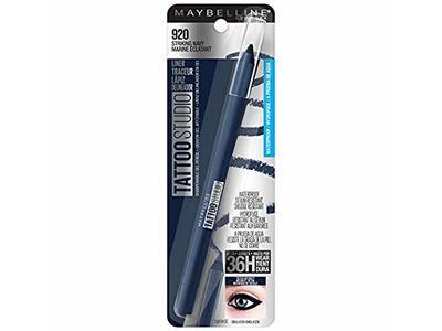 Maybelline Tattoo Studio Eyeliner Pencil, 920 Striking Navy, 0.04 oz
