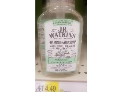 J.R. Watkins Foaming Hand Soap, Vanilla Mint, 9 fl oz - Image 3