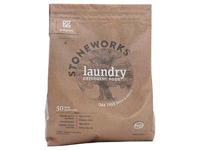 GRAB GREEN Stoneworks Laundry Pods Oak Tree, 50 loads