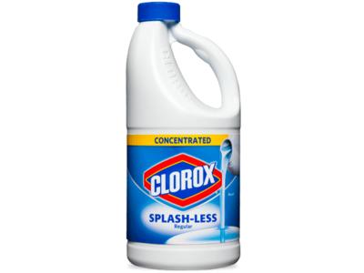 Clorox Splash-Less Liquid Bleach, Regular, 55 fl oz