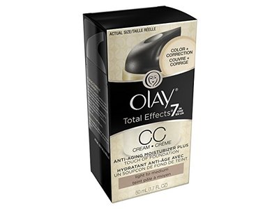 Olay CC Cream Total Effects Daily Moisturizer plus Touch of Foundation, 1.7 fl. Oz., Packaging May Vary - Image 19