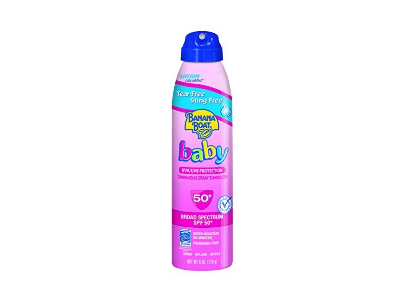 Banana Boat Baby Continuous Spray Sunscreen, SPF50+, 6 oz (Pack of 3)