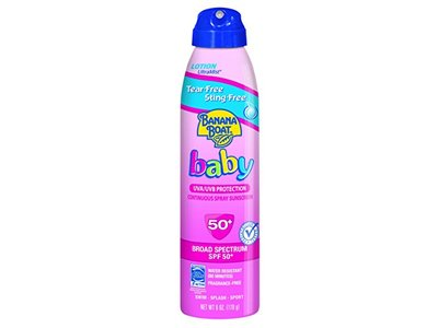 Banana Boat Baby Continuous Spray Sunscreen, SPF50+, 6 oz (Pack of 3) - Image 1