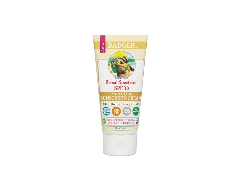 Badger Broad Spectrum Sunscreen, SPF 30, Unscented 2.9 fl oz