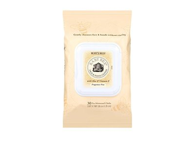 Burt's Bees Baby Bee Face and Hand Cloths, 30 Count - Image 1