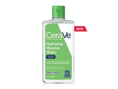CeraVe Hydrating Micellar Water Ultra Gentle Cleanser, 10 fl oz - Image 1