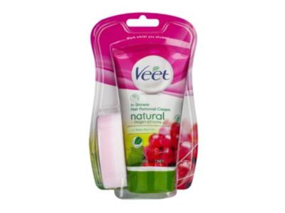 Veet In-Shower Hair Removal Cream, Grape Seed Oil, 150 mL