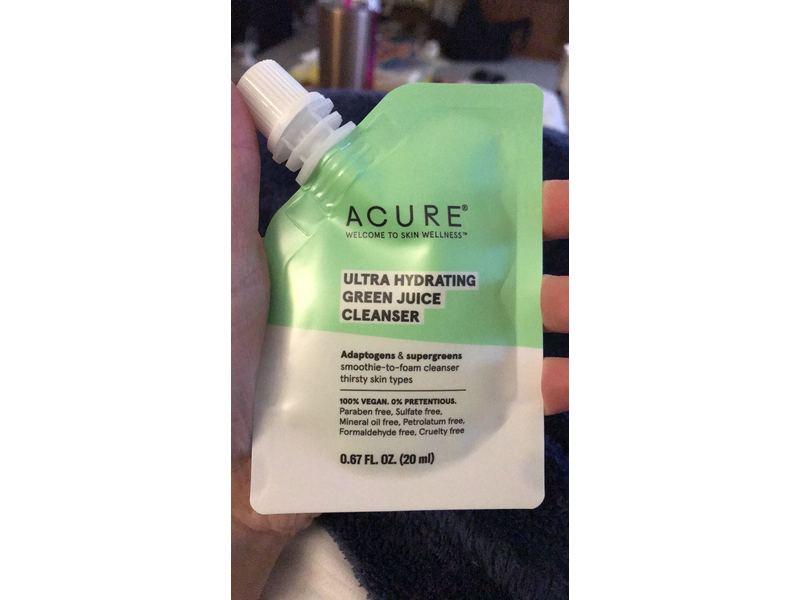 Acure Ulta Hydrating Green Juice Cleanser, .67 fl oz
