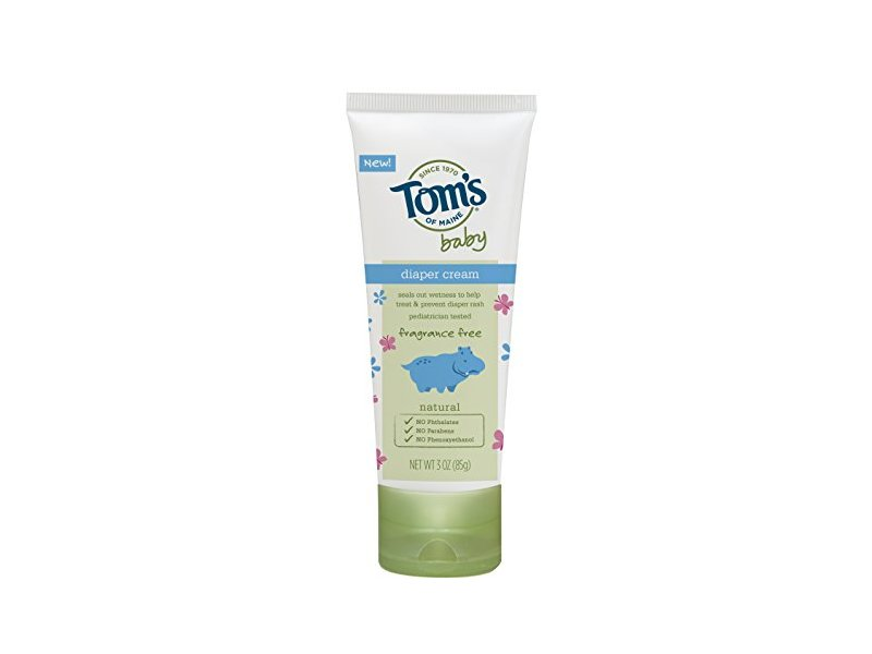 Tom's of Maine Natural Baby Diaper Cream, Fragrance Free, 3 Ounce