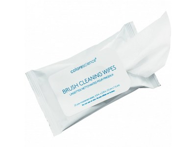 Colorescience Brush Cleaning Wipes, 20 wipes - Image 1
