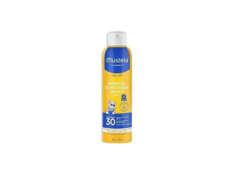Mustela Baby Mineral Sunscreen Spray, SPF 30, 6 fl oz