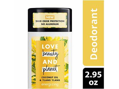 Love Beauty And Planet Coconut Oil & Ylang Ylang Energizing Deodorant, 2.95 oz