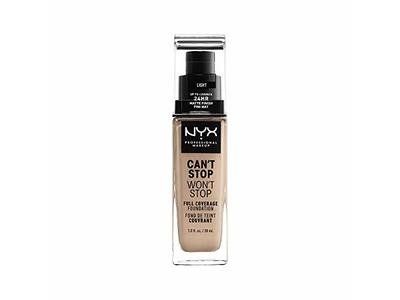 NYX Professional Makeup Can't Stop Won't Stop Full Coverage Foundation, Light, 1.3 Ounce