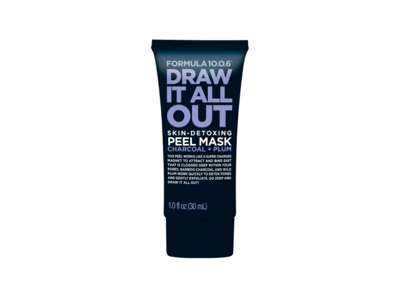 Formula 10.0.6 Draw It All Out Skin-Detoxing Charcoal + Plum Peel Mask, 1 fl oz/30 mL