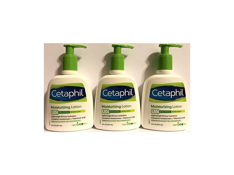 Cetaphil Moisturizing Lotion - Body & Face - For All Skin Types - Net Wt. 8 FL OZ (237 mL) Per Bottle