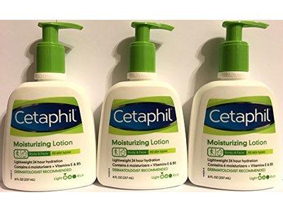 Cetaphil Moisturizing Lotion - Body & Face - For All Skin Types - Net Wt. 8 FL OZ (237 mL) Per Bottle - Image 1