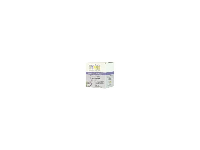 Aura Cacia Shower Tablet Relaxing Lavender, 3 oz