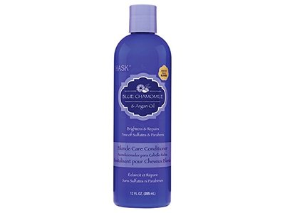 Hask Blue Chamomile and Argan Oil Blonde Care Conditioner, 12 Ounce