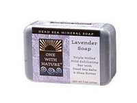 One With Nature Dead Sea Mineral Soap Lavender - Image 2
