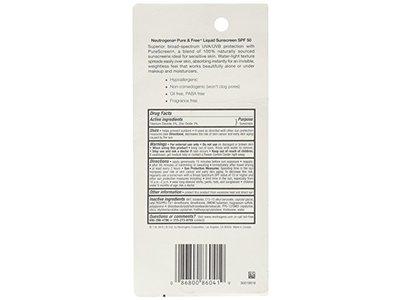 Neutrogena Pure & Free Liquid Sunscreen Broad Spectrum SPF50, Johnson & Johnson - Image 4