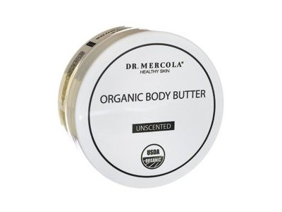 Dr. Mercola Organic Body Butter, Unscented, 4 oz